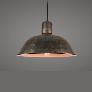Large metal dome pendant light , paint finish