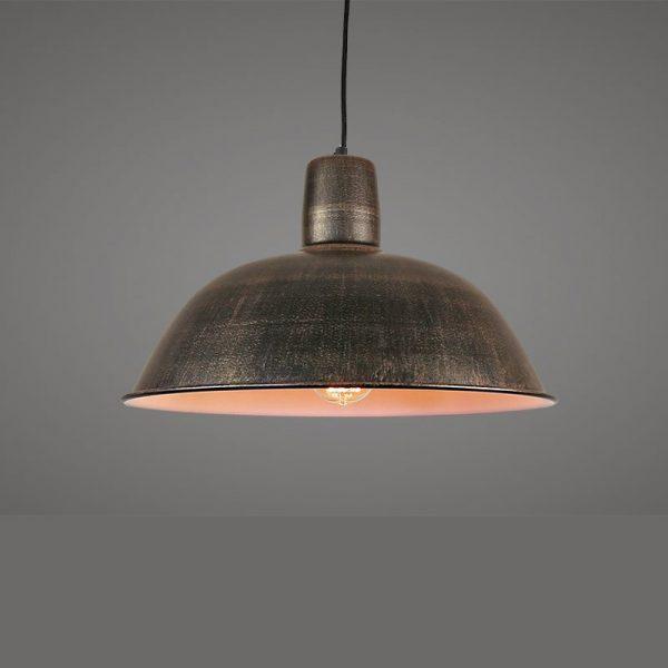 Large metal dome pendant light , paint finish
