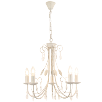 Metal Chandelier with Clear Acrylic Crystals
