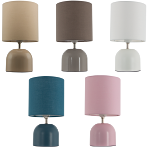Metal Table Lamp with Fabric Shade