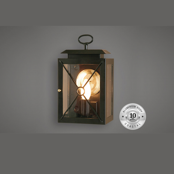 Small wall mounted 3-sided lantern