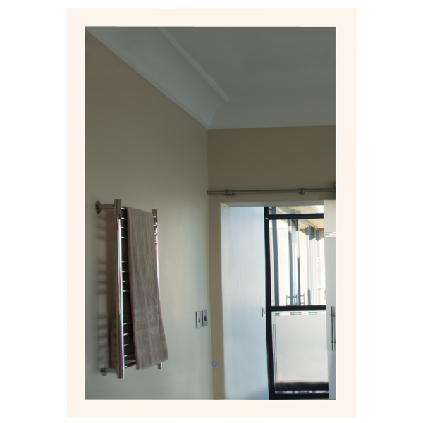 Rectangular Mirror with On Off Mirror Switch, Dimmable